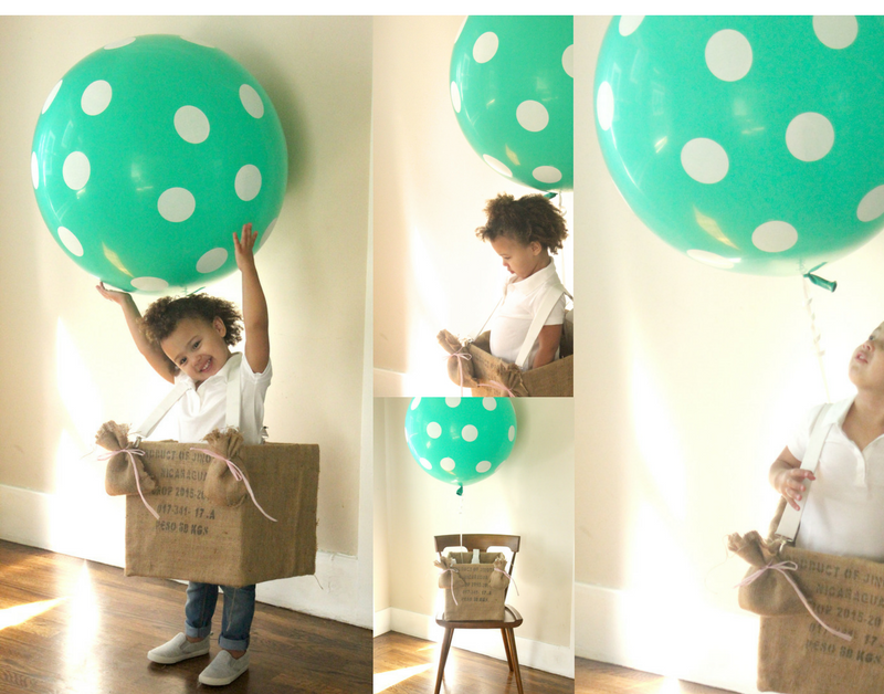 What do you do when your toddler insists on being a balloon for Halloween? You give in of course. I have just one of those little tikes and mine is so ...  sc 1 st  Tinselbox & Homemade Hot Air Balloon Costume - TINSELBOX